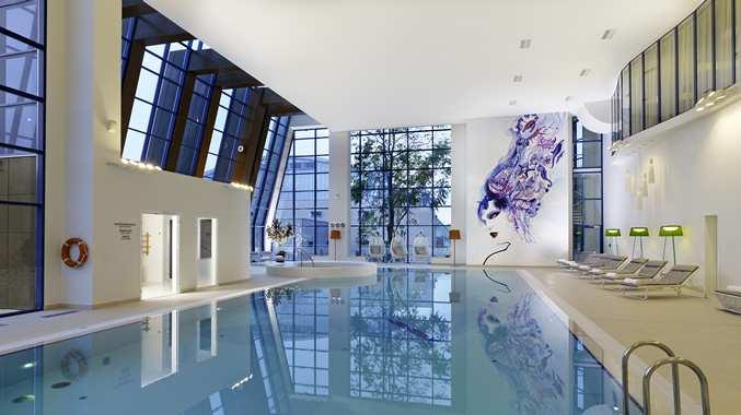 Pool area eforea spa at Hilton