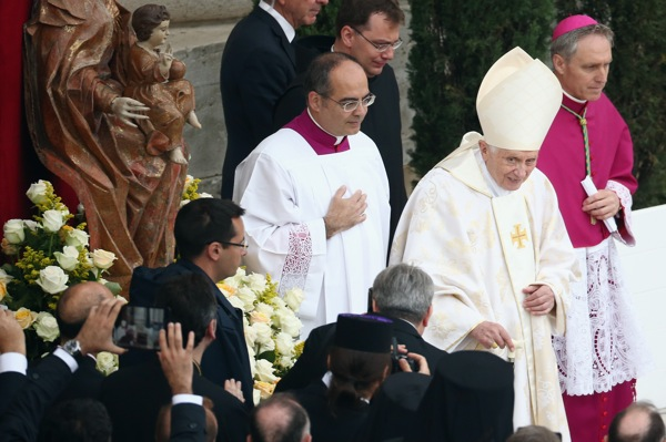 Pope John Paul II And Pope John XXIII Are Declared Saints During A Vatican Mass
