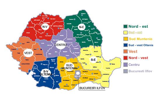 Harta-regiuni