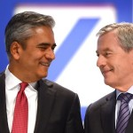 Șefii Deutsche Bank  au primit anul trecut fix 6,7 milioane de euro, fiecare