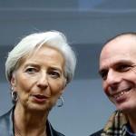 Lagarde și Varoufakis discută