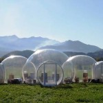 Camping cu stil din cort gonflabil independent energetic, pentru excursii