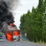 Catastrofa de incendiu dar si de organizare rutiera la ungurii vecini, in weekend