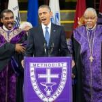 """Obama, a cântat mai bine decat conduce SUA (zic unii), imnul """"Amazing Grace"""""""