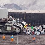 Activiștii opresc un excavator de cărbune