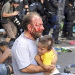 RAZBOIUL UNGURILOR-IMAGINI SFASIETOARE. Mesajul pe Twitter al unei institutii germane a creat haosul din Ungaria al refugiatilor sirieni
