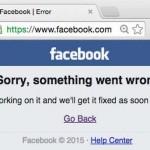 Facebook indisponibil la nivel mondial
