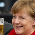 Merkel promovează berea germană