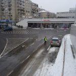 Circulatia a fost reluată in zona parcării Rogerius