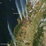 Incendiile de pădure din Chile, fotografiate de sateliți ai NASA