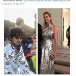 Ivanka Trump criticată pentru rochia ei metalizată, comparată cu folia termoizolantă cu care sunt acoperiți refugiații