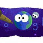 Google marchează recenta descoperire a celor șapte planete printr-un doodle postat pe motorul său online