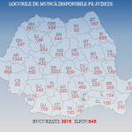 La nivel national sunt peste 21.000 de locuri de munca disponibile. Harta locurilor libere