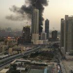 Un nou incendiu în Dubai, în apropiere de cea mai înalta clădire din lume, Burj Khalifa