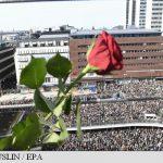 Manifestație la Stockholm împotriva terorismului; primarul capitalei suedeze promite că aceasta rămâne un oraș 'deschis' și 'tolerant'