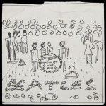 O schiță desenată de John Lennon pentru coperta unui celebru album Beatles, scoasă la licitație