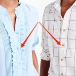 De ce cămăşile bărbăteşti au nasturi pe dreapta şi cele femeieşti, invers