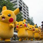Paradă Pikachu pentru fanii jocului Pokemon Go