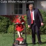 Donald Trump frustat de atenția minimă acordată de Frank, puștiu care și-a împlinit visul vieții de a tunde peluza Casei Albe