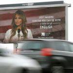 Melania Trump a obținut retragerea unor panouri publicitare din Croația