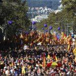 Sute de mii de persoane la un marș pro-uniune la Barcelona