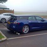 A fost surprins un Tesla Model S versiune break
